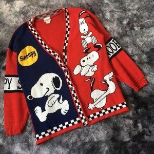 Snoopy Vintage Oversized Cardigan